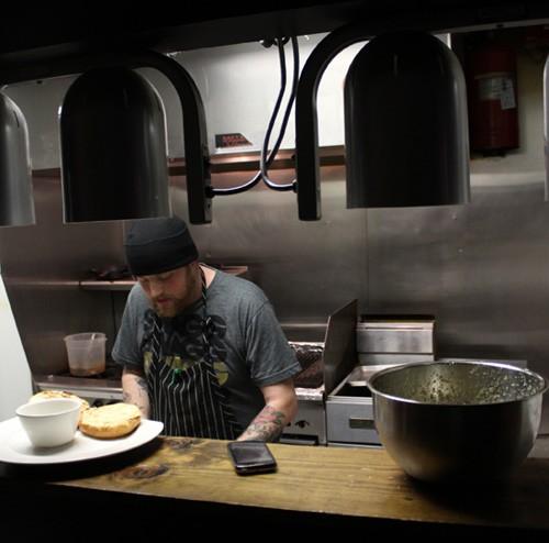 Chef Jimmy Hippchen in the Crow's Nest's kitchen. - MABEL SUEN