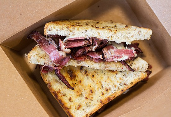 Tony's A.M.'s hot pastrami sandwich on rye bread. | Photos by Mabel Suen