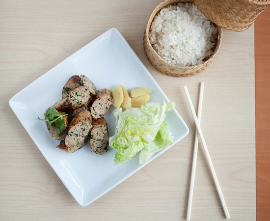 Sai oua, Northern Thai-style sausages, at Fork & Stix - JENNIFER SILVERBERG