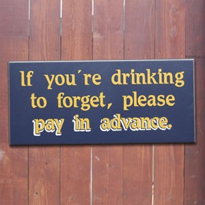 This sign hangs at more than one St. Louis bar