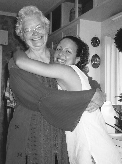 Molly Ivins and Ellen Sweets' daughter Hannah - COURTESY OF ELLEN SWEETS AND UT PRESS