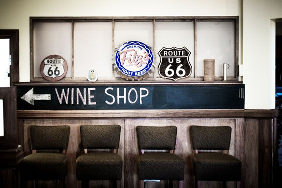 Wine and barbecue at Bud's Smokehouse & Grill. | Jennifer Silverberg