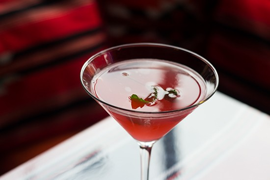 "The ""Ranoush Kiss"" cocktail."
