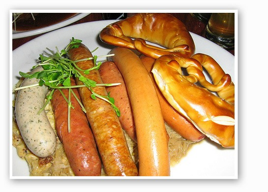 Germans are known for their sausage. | Lillian Ling
