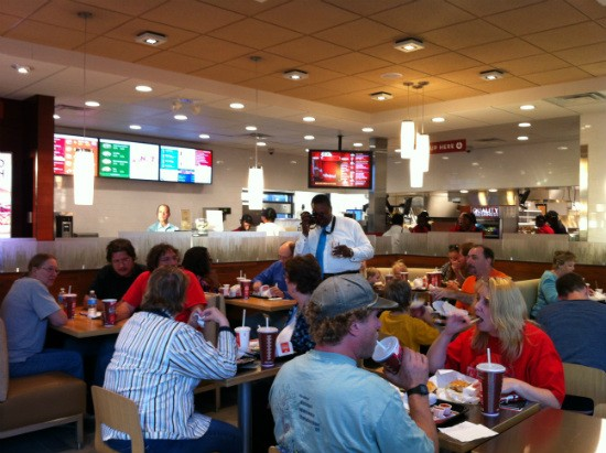 The dining room at the new Wendy's. - LIZ MILLER