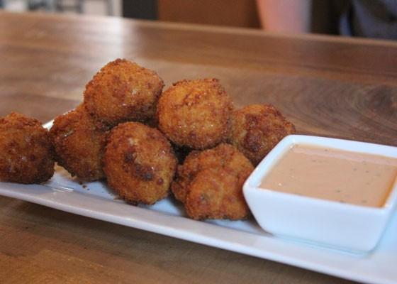 Mac & cheese fritters. | Nancy Stiles