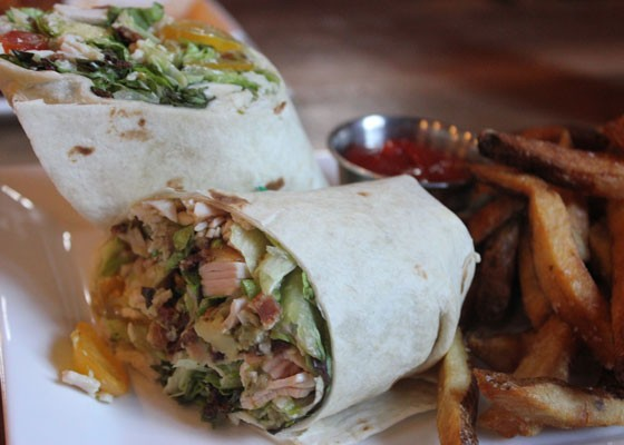 The turkey BLAT wrap. | Nancy Stiles