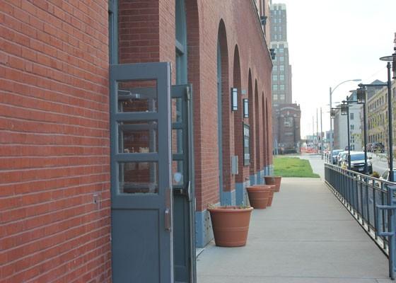 The entrance on Spruce Street. | Nancy Stiles