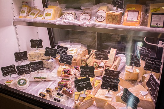 The cheese case.