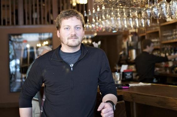 David Bailey inside Bridge Tap Room & Wine Bar, one of his three restaurants - JENNIFER SILVERBERG
