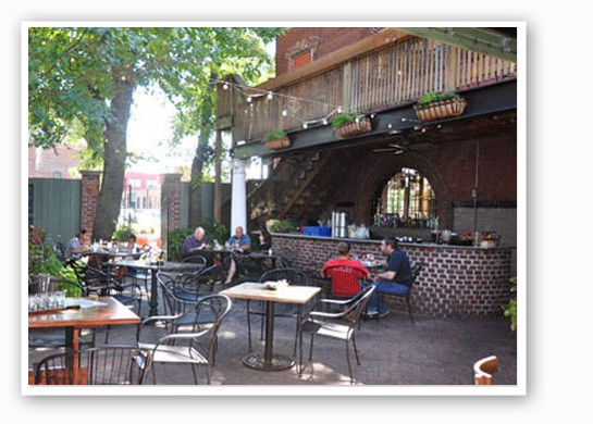 It's the perfect time of year to enjoy Square One's courtyard.  Tara Mahadevan