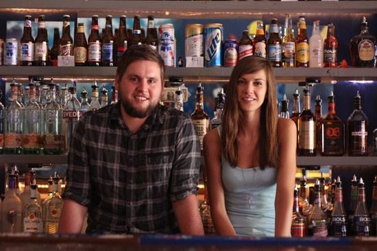 Joshua Timbrook and Jodie Whitworth, co-owners of the Heavy Anchor. - RFT PHOTO