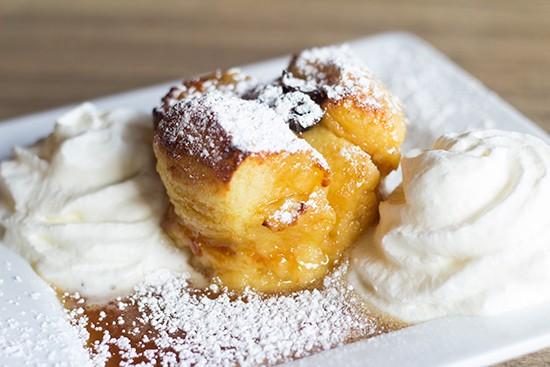 Cyrano's caramel-brioche bread pudding.