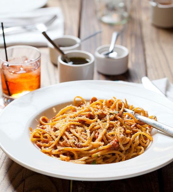 Bucatini All'Amatriciana at Pastaria | Jennifer Silverberg