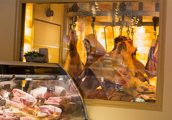 The dry-aging room.
