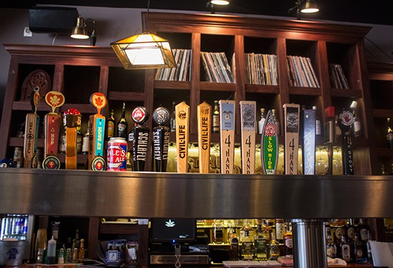 The selection of draft beers.