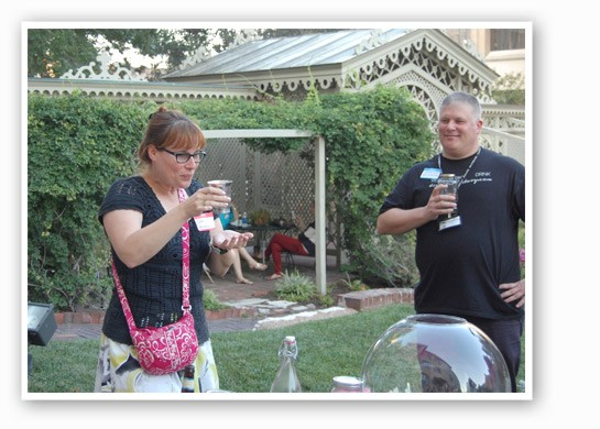 The winner takes a swig from Ulysses S. Grant's cup.   Nancy Stiles