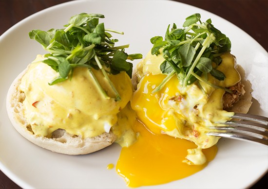 Another look at the eggs benedict special.