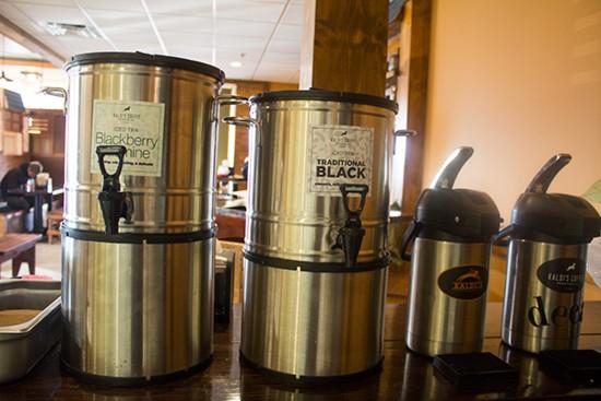 Kaldi's tea and coffee available.