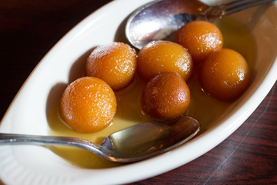India Palace's gulab jamun. | Mabel Suen