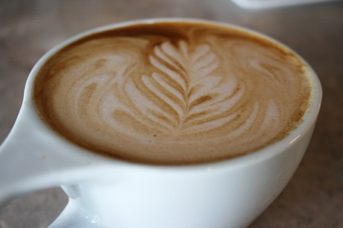 A perfectly poured mocha latte. - CHRISSY WILMES