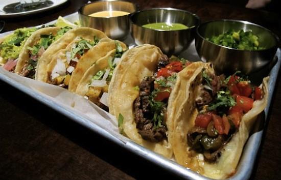The carne asada tacos at Vida Mexican Kitchen y Cantina. - REASE KIRCHNER