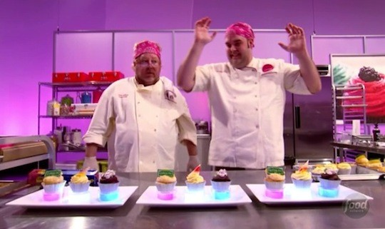 Casey and Dana at the end of Round 2. | Food Network