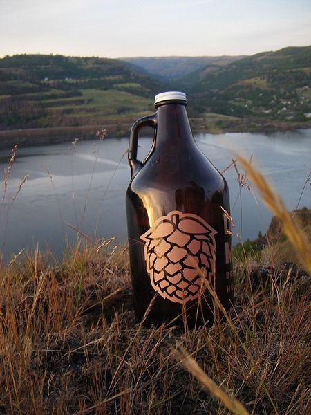 This photo of a beer growler has received the craft-beer-enthusiast stamp of approval. - IMAGE VIA