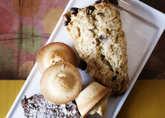 A scone and financiers at Mississippi Mud House.   Jennifer Silverberg