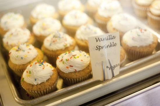 One of the vegan cupcake varieties at SweetArt - KHOLOOD EID
