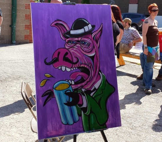 Pig With Pint - RICHARD HAEGELE