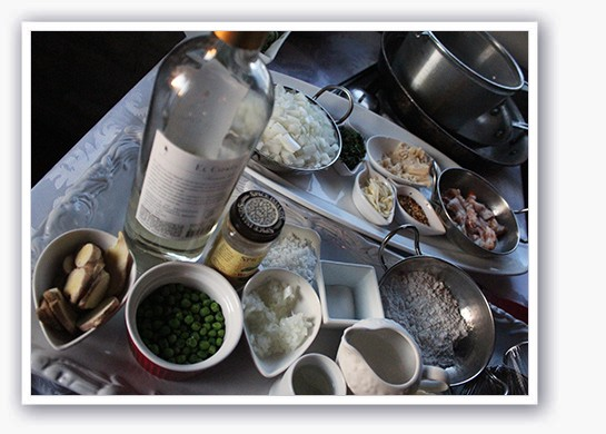 Fresh ingredients from a Stone Soup Cottage cooking demo | Mabel Suen