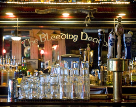 The Bleeding Deacon Public House: Owner Michael McLaughlin stands up for servers' right to a decent wage. - JENNIFER SILVERBERG
