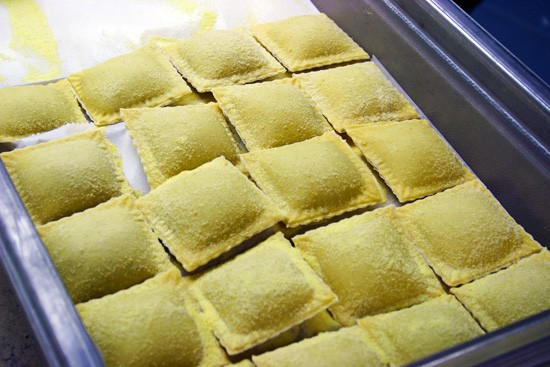 Anthonino's ravioli, ready to dive into boiling water and greet its destiny. - KATIE MOULTON