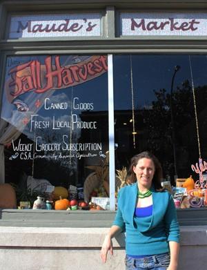 Maude Bauschard in front of her Dutchtown shop. | Mabel Suen