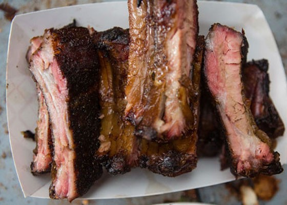 Ribs from PM BBQ at last year's LouFest Nosh Pit. | Theo Welling