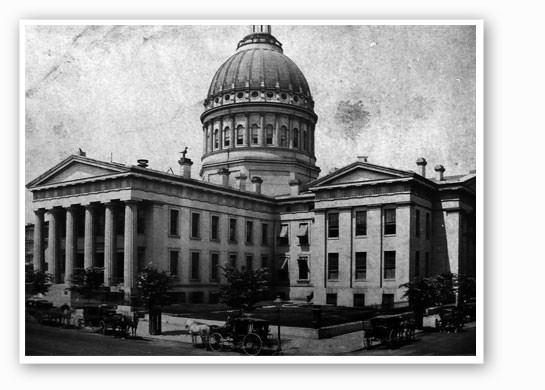 The Old Courthouse in 1862.   Army Arch