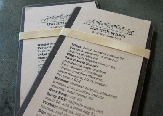 A peek at the Fifth Wheel menu. - ALICE TELIOS