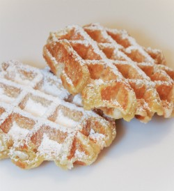 Waffle-licious serves Brussels-style waffles.
