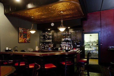 The bar inside Sassy JAC's | Jennifer Silverberg