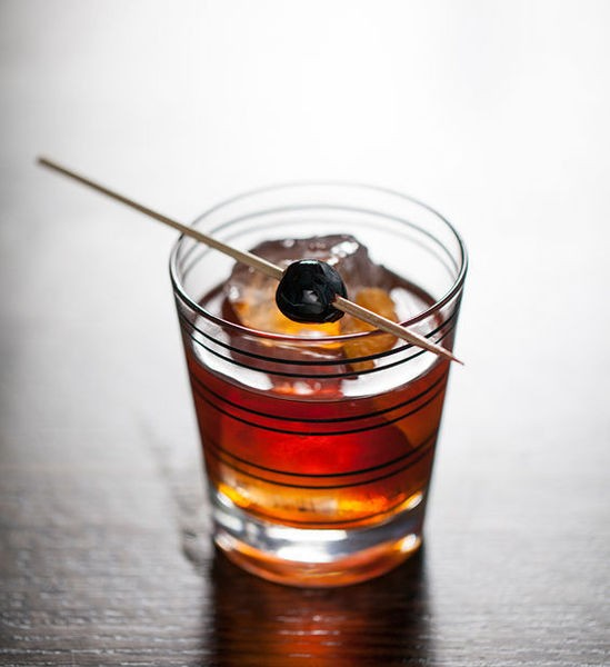 An Old-Fashioned from the Blood & Sand bar - JENNIFER SILVERBERG