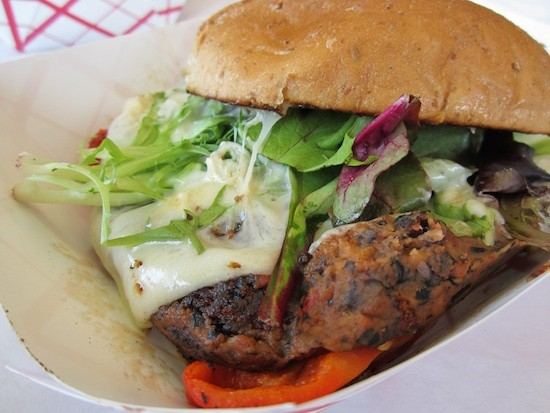 Fozzie's Black Bean Burger - BRYAN PETERS