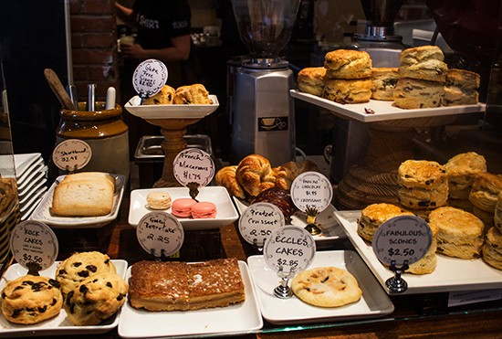 A selection of baked goods.