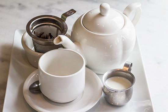 Hot tea service.