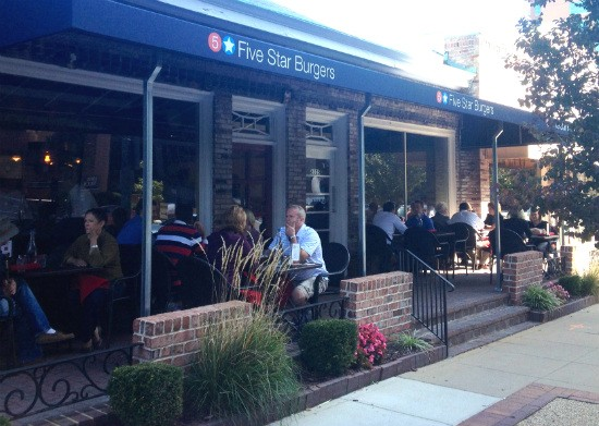 5 Star Burgers in Clayton features plenty of patio seating. - EVAN C. JONES