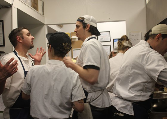 Chef Josh Galliano rallies the troops. | Nancy Stiles