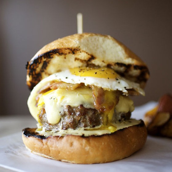 Home Wine Kitchen's famous cheeseburger. | Jennifer Silverberg