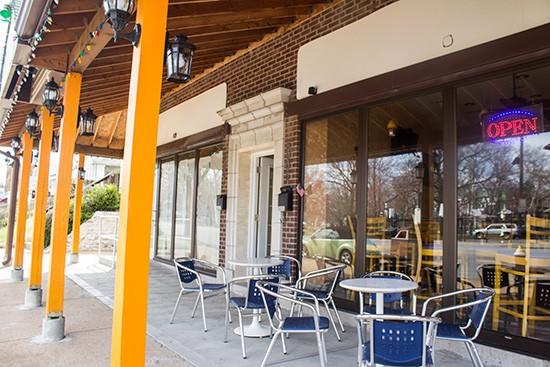Now open with patio seating available.