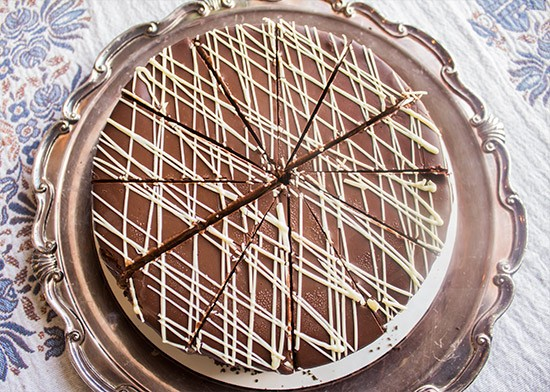 Chocolate-mousse cheesecake from LuciAnna's Pastries. | Photos by Mabel Suen