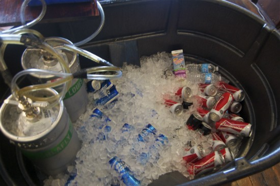 Schlafly, Budweiser and Bud Light made-up the beer selection yesterday at Nora's. - LIZ MILLER